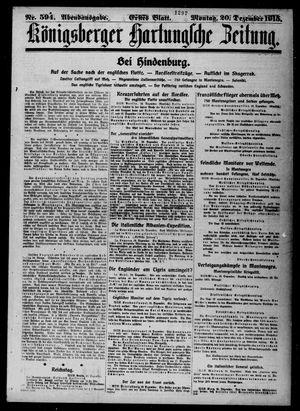 Königsberger Hartungsche Zeitung vom 20.12.1915