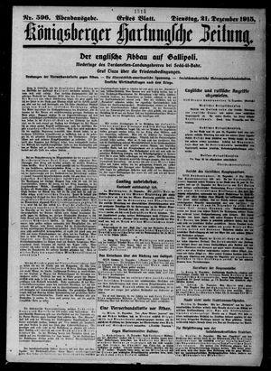 Königsberger Hartungsche Zeitung vom 21.12.1915