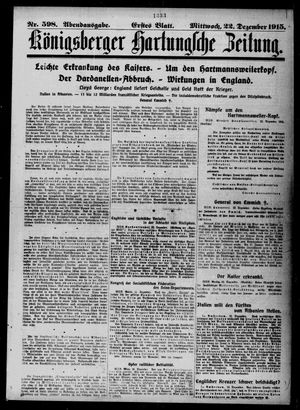 Königsberger Hartungsche Zeitung vom 22.12.1915