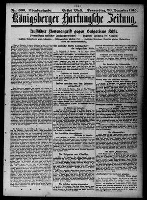 Königsberger Hartungsche Zeitung vom 23.12.1915