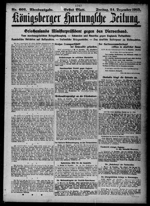 Königsberger Hartungsche Zeitung on Dec 24, 1915