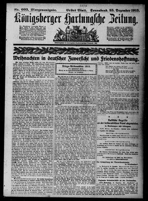 Königsberger Hartungsche Zeitung vom 25.12.1915