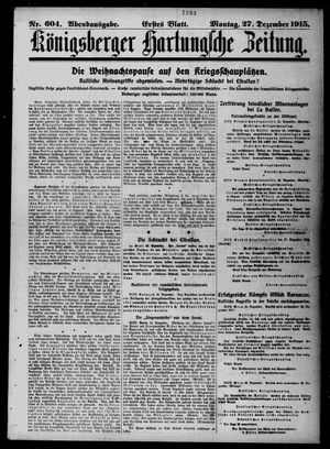 Königsberger Hartungsche Zeitung vom 27.12.1915