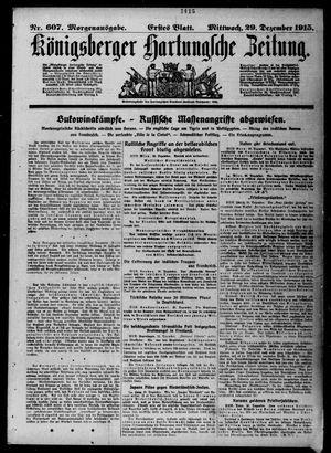 Königsberger Hartungsche Zeitung vom 29.12.1915