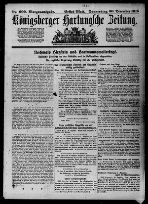 Königsberger Hartungsche Zeitung vom 30.12.1915