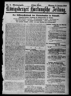 Königsberger Hartungsche Zeitung vom 03.01.1916