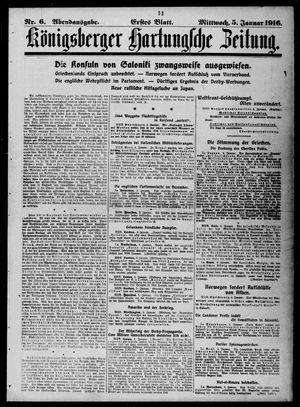Königsberger Hartungsche Zeitung vom 05.01.1916