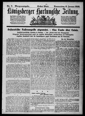 Königsberger Hartungsche Zeitung vom 06.01.1916