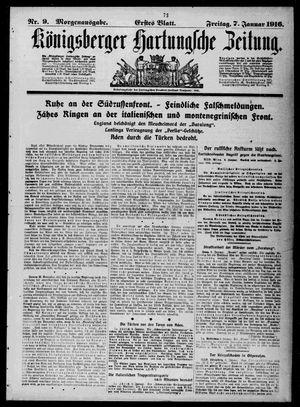 Königsberger Hartungsche Zeitung vom 07.01.1916