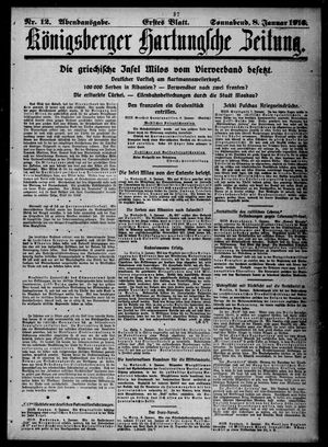 Königsberger Hartungsche Zeitung vom 08.01.1916