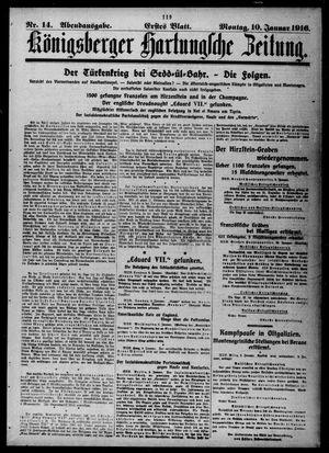 Königsberger Hartungsche Zeitung vom 10.01.1916