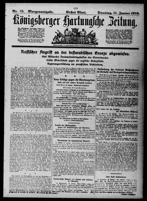 Königsberger Hartungsche Zeitung vom 11.01.1916