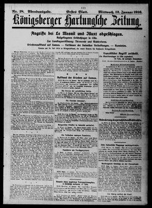 Königsberger Hartungsche Zeitung vom 12.01.1916