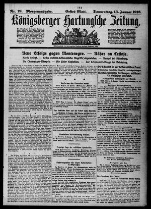 Königsberger Hartungsche Zeitung vom 13.01.1916