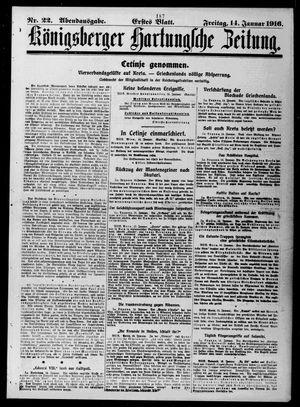 Königsberger Hartungsche Zeitung vom 14.01.1916