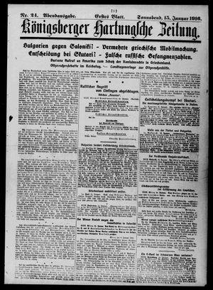 Königsberger Hartungsche Zeitung vom 15.01.1916