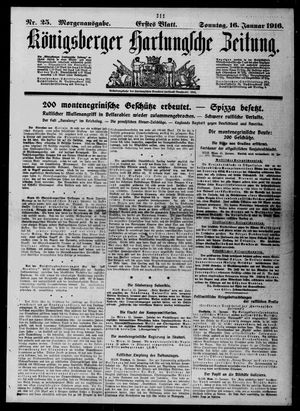 Königsberger Hartungsche Zeitung vom 16.01.1916