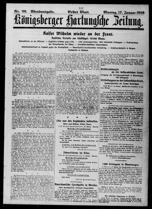 Königsberger Hartungsche Zeitung vom 17.01.1916