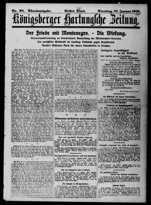 Königsberger Hartungsche Zeitung vom 18.01.1916