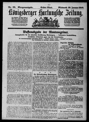 Königsberger Hartungsche Zeitung vom 19.01.1916
