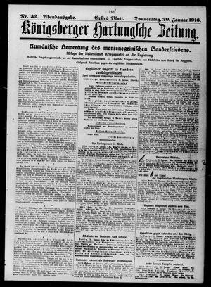Königsberger Hartungsche Zeitung vom 20.01.1916