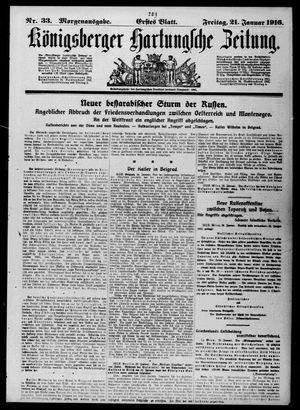 Königsberger Hartungsche Zeitung on Jan 21, 1916