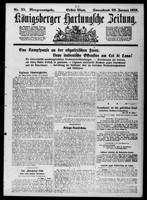 Königsberger Hartungsche Zeitung vom 22.01.1916