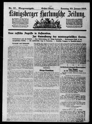 Königsberger Hartungsche Zeitung vom 23.01.1916
