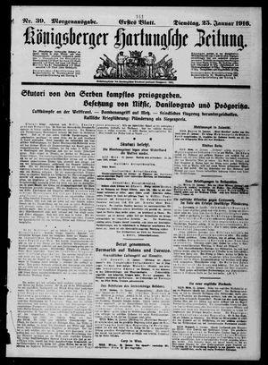 Königsberger Hartungsche Zeitung vom 25.01.1916