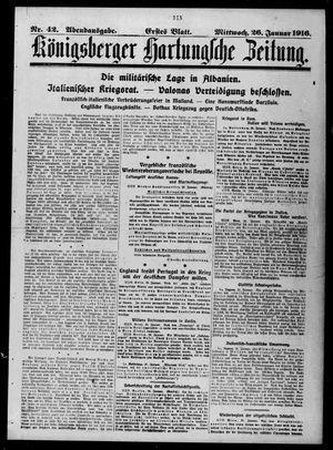 Königsberger Hartungsche Zeitung vom 26.01.1916
