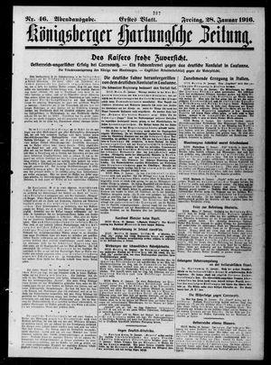 Königsberger Hartungsche Zeitung vom 28.01.1916