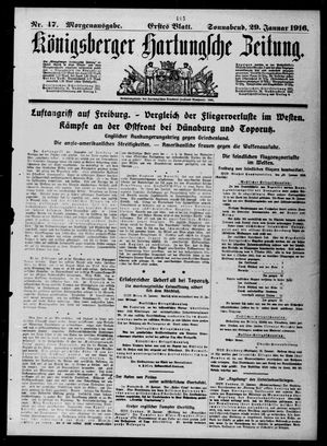 Königsberger Hartungsche Zeitung on Jan 29, 1916