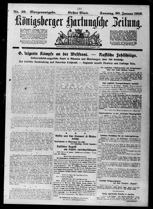 Königsberger Hartungsche Zeitung vom 30.01.1916