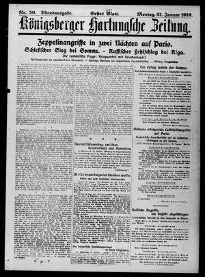 Königsberger Hartungsche Zeitung vom 31.01.1916