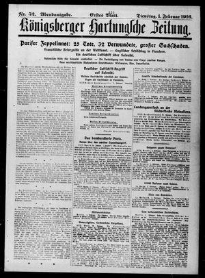 Königsberger Hartungsche Zeitung vom 01.02.1916