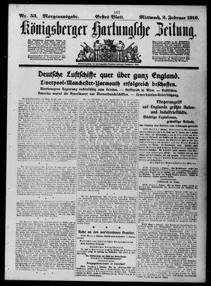 Königsberger Hartungsche Zeitung vom 02.02.1916