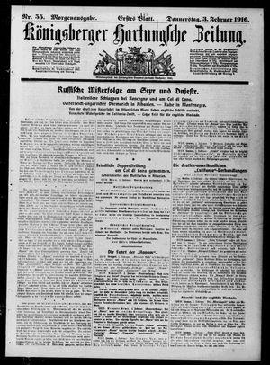 Königsberger Hartungsche Zeitung vom 03.02.1916