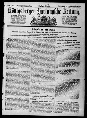 Königsberger Hartungsche Zeitung vom 04.02.1916