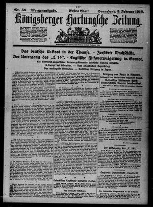 Königsberger Hartungsche Zeitung vom 05.02.1916