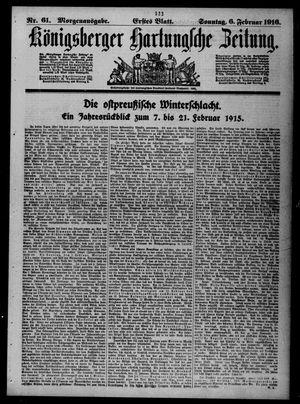 Königsberger Hartungsche Zeitung vom 06.02.1916