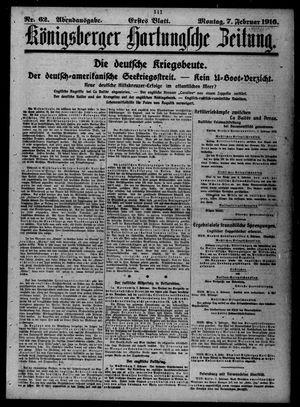 Königsberger Hartungsche Zeitung vom 07.02.1916