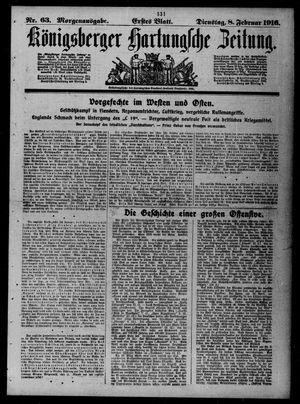 Königsberger Hartungsche Zeitung vom 08.02.1916