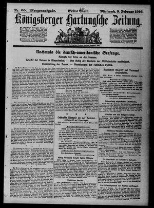Königsberger Hartungsche Zeitung vom 09.02.1916