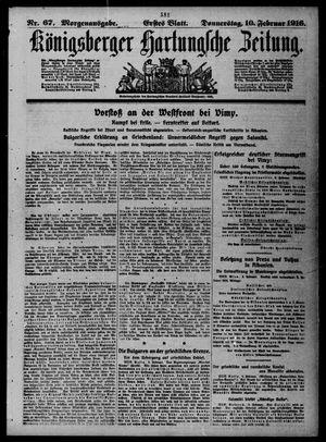 Königsberger Hartungsche Zeitung vom 10.02.1916