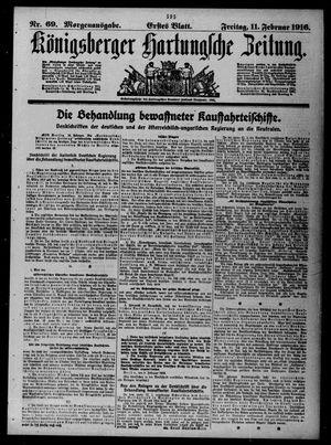 Königsberger Hartungsche Zeitung vom 11.02.1916