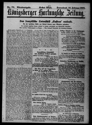 Königsberger Hartungsche Zeitung vom 12.02.1916
