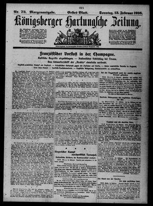 Königsberger Hartungsche Zeitung vom 13.02.1916