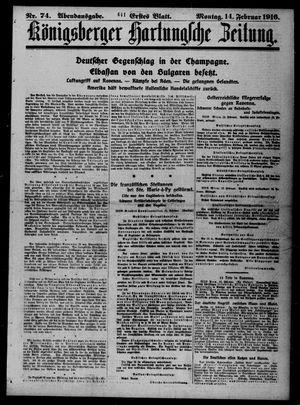 Königsberger Hartungsche Zeitung vom 14.02.1916