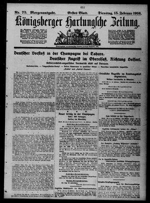 Königsberger Hartungsche Zeitung vom 15.02.1916