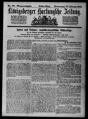 Königsberger Hartungsche Zeitung on Feb 17, 1916